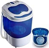Mini Waschmaschine mit Schleuder   Waschautomat bis 3 KG   Reisewaschmaschine   Miniwaschmaschine   Camping Mobile Waschmaschine   Toploader   (1 Kammer)