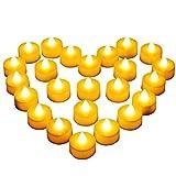 24 LED Kerzen, Diyife® LED Flammenlose Tealights, Flackern Teelichter, elektrische Kerze Lichter Batterie Dekoration für Weihnachten, Weihnachtsbaum, Ostern, Hochzeit, Party [Batterien enthalten]