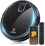 MooSoo Saugroboter WLAN 2100Pa mit Intelligenter Navigation, Alexa& App Steuerung, 120min Akkulaufzeit für 150m², Selbstaufladung, 55dB Leise, Staubsauger Roboter für Tierhaare, Teppiche, Hartböden