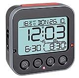 TFA Dostmann Bingo 2.0 digitaler Funk-Wecker mit Temperaturanzeige, Kunststoff, schwarz, (L) 95 x (B) 41 x (H) 96 mm