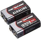 ANSMANN Red Alkaline Batterie 9V E-Block 6LR61 Longlife Alkalibatterie (2er Shrink)
