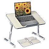 Avantree Neetto Tragbarer Betttablett, Höhenverstellbar Laptop Betttisch Tablett Bett Fruehstueck Notebook Tisch Stehpult, Klappbar Laptoptisch Fuer Sofa