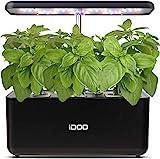 iDOO Hydroponische Anzuchtsysteme, Smart Indoor Garden Anzuchtsystem mit LED-Wachstumslicht, automatisches Timer-Keimungs-Kit, höhenverstellbar, schwarz (7 Pods, ohne Samen)