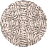 myfelt Filzkugelteppich Béla - Ø 90 cm, ideal für Schlaf-, Wohn-, Kinderzimmer, Flur & Bad