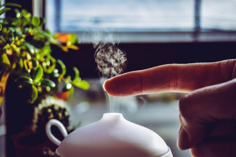 Diffuser mit Dampf