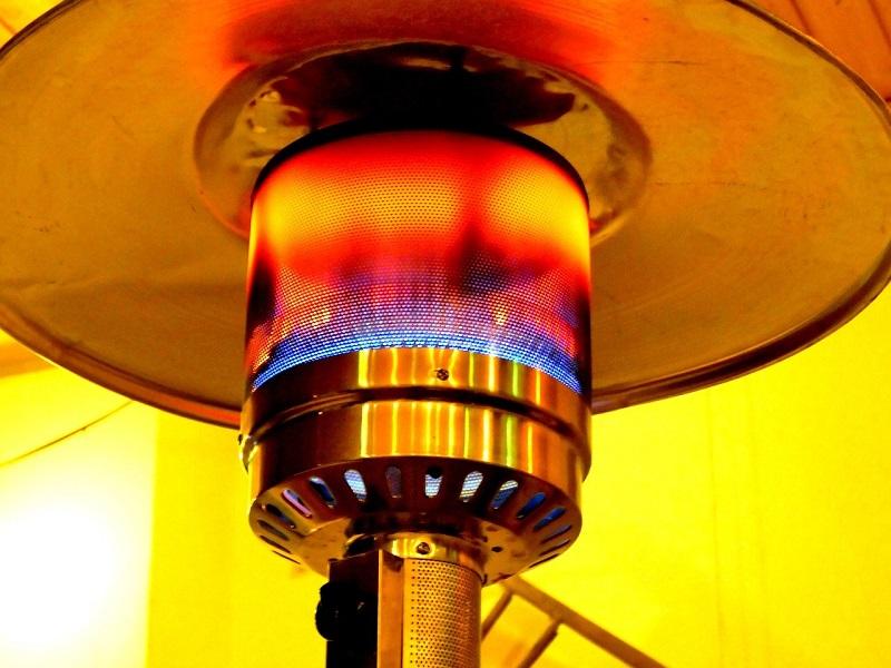 Heizpilz Test Gas Reflektorschirm
