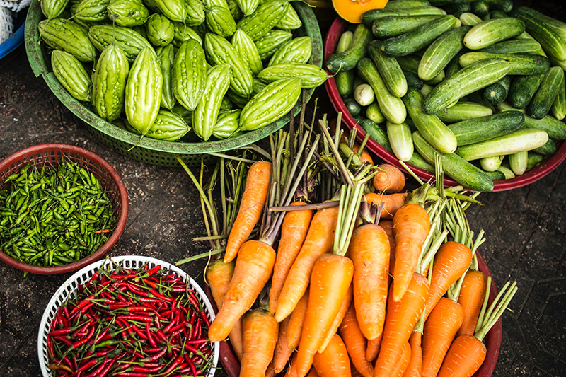 Gemüse für ein Gewächshaus im Test