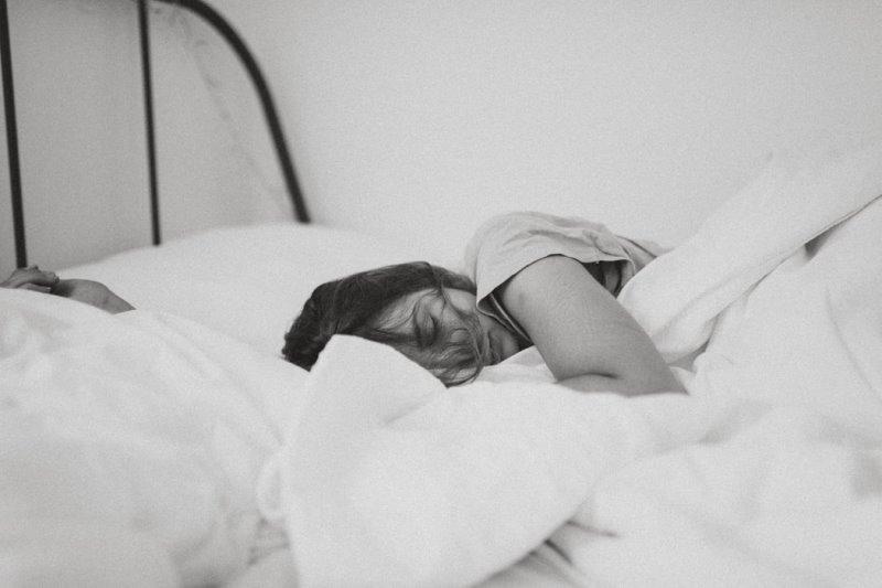 Seitenschläfer im Bett