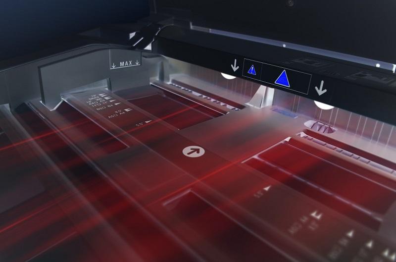 Laser eine Scanners im Prozess