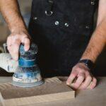 Exzenetrschleifer Holz schleifen