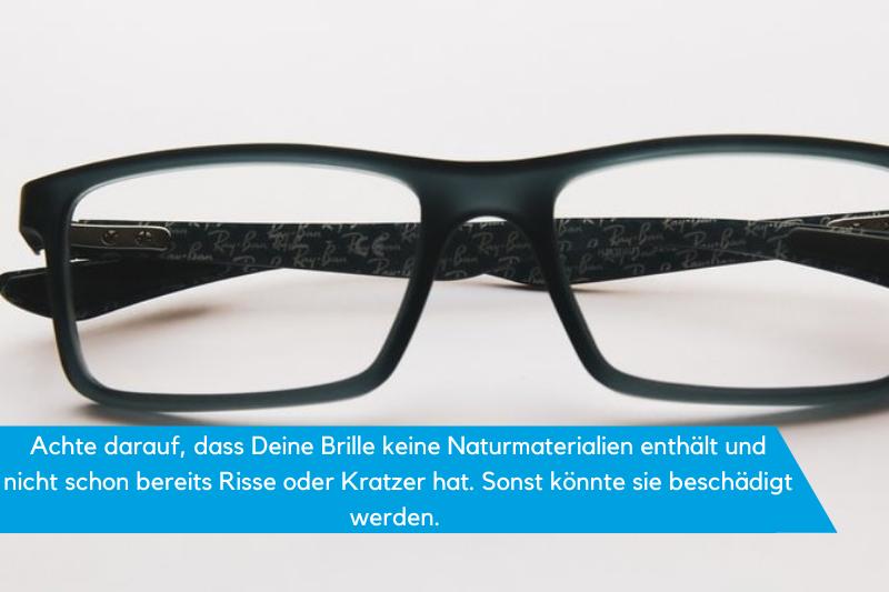 Ultraschallreiniger schwarze Brille