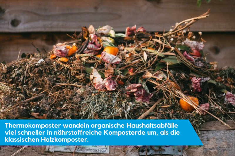 offene Komposter stellen eine Alternative zu Thermokomposters dar.