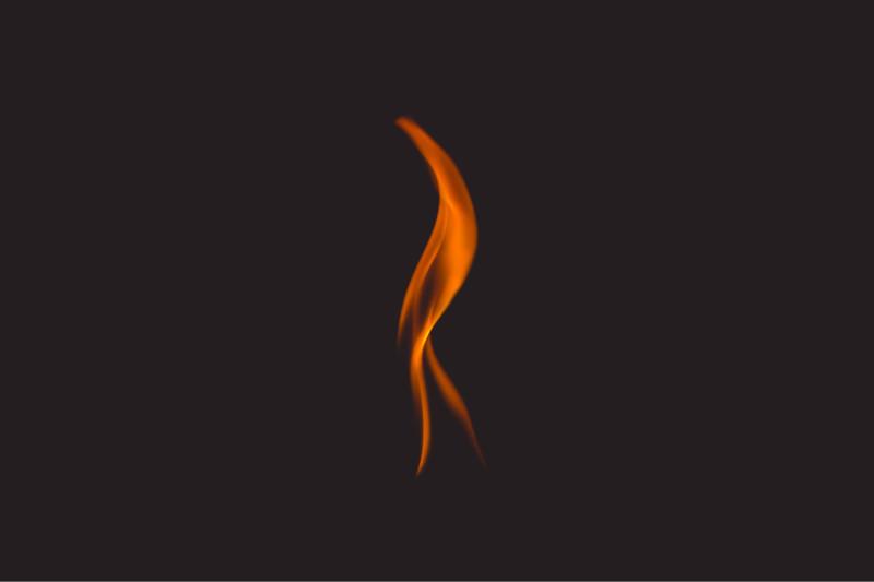 Flamme eines Pelletofens