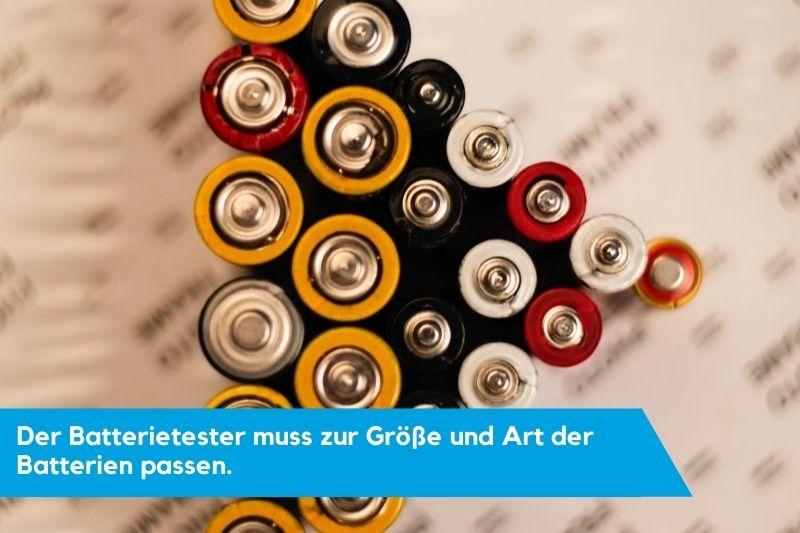 Batterien für Batteritester