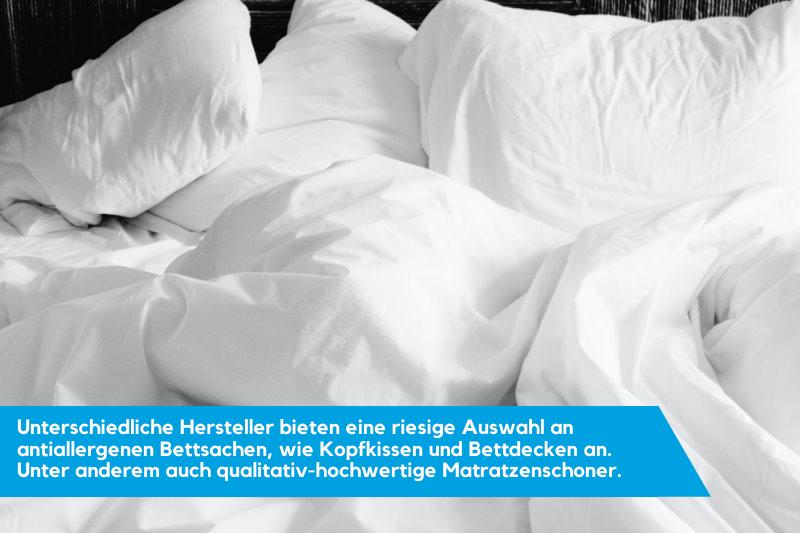 Matratzenschoner und unterschiedliche Bettbezüge