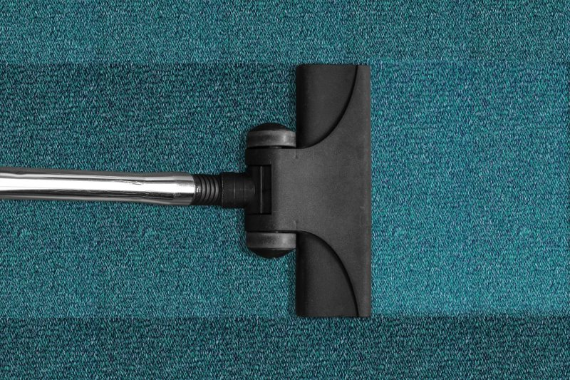 Reinigung eines Teppichbodens mithilfe eines Nass Staubsaugers