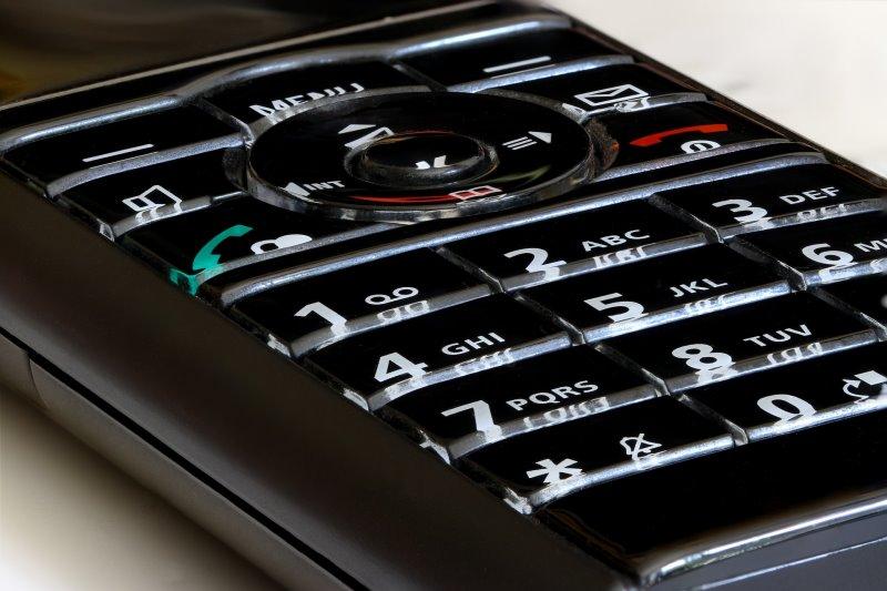 Tastatur eines analogen Telefons
