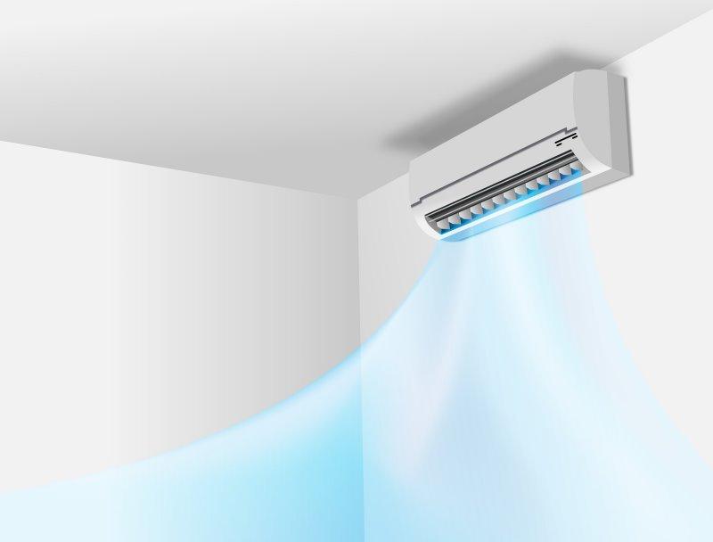 Eine Split Klimaanlage erzeugt kalte Luft